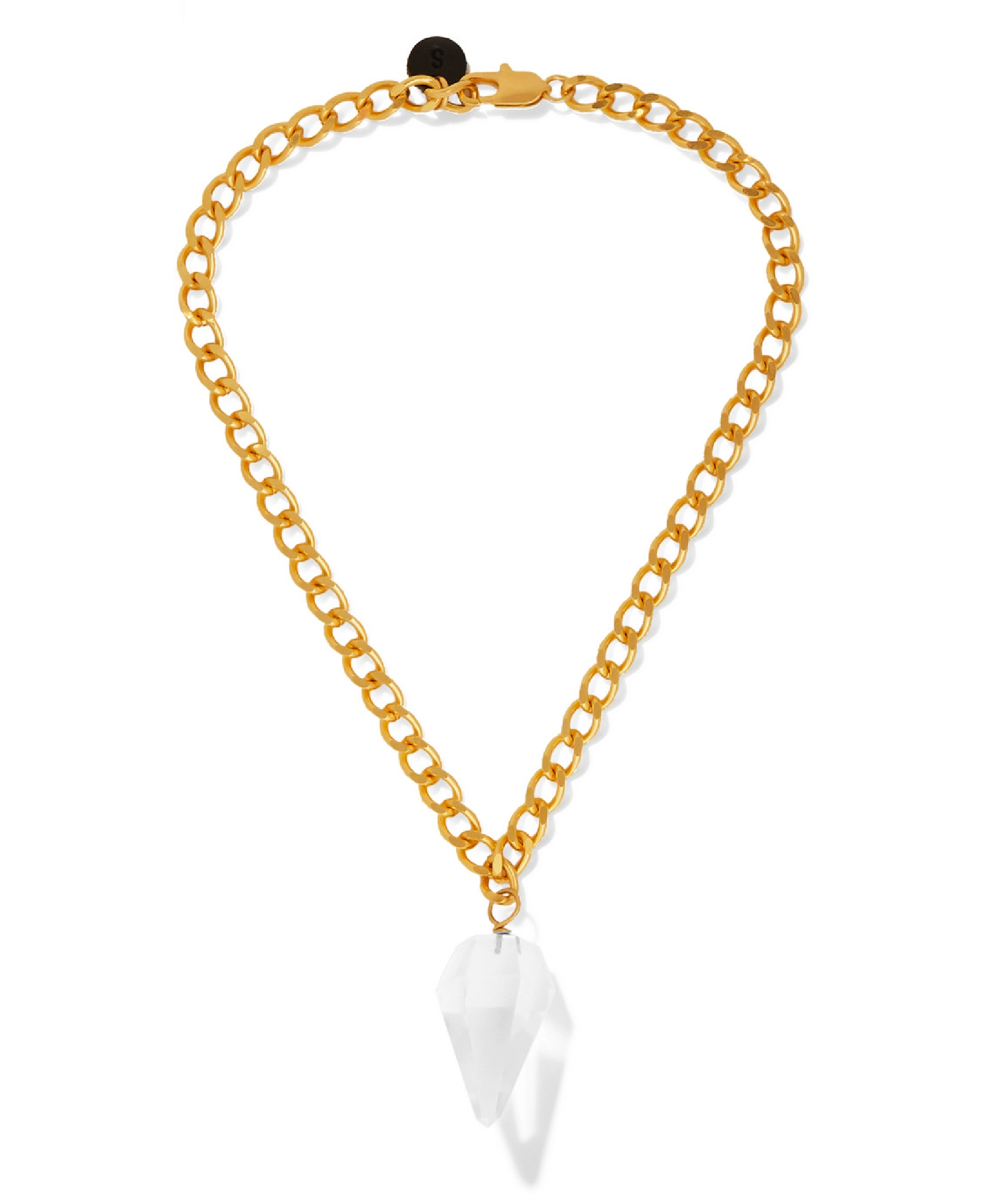 Sirconstance - Gold-Plated Crystal Necklace