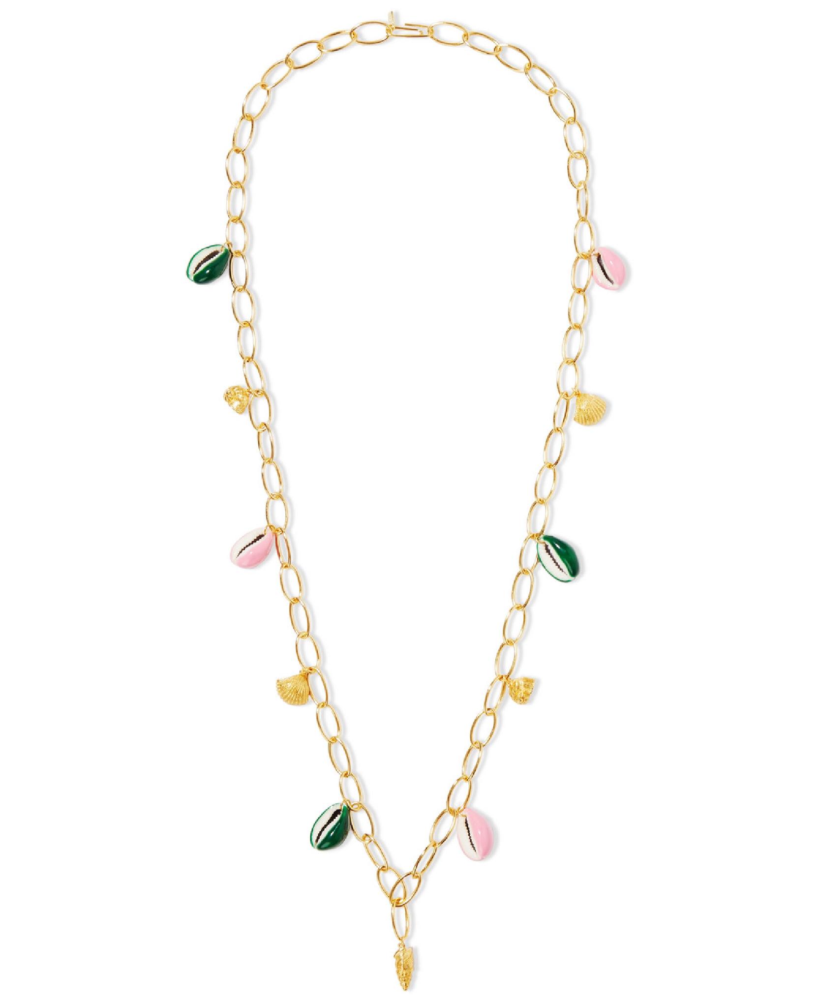 Aurelie Bidermann - Panama Gold-Plated, Shell And Enamel Necklace