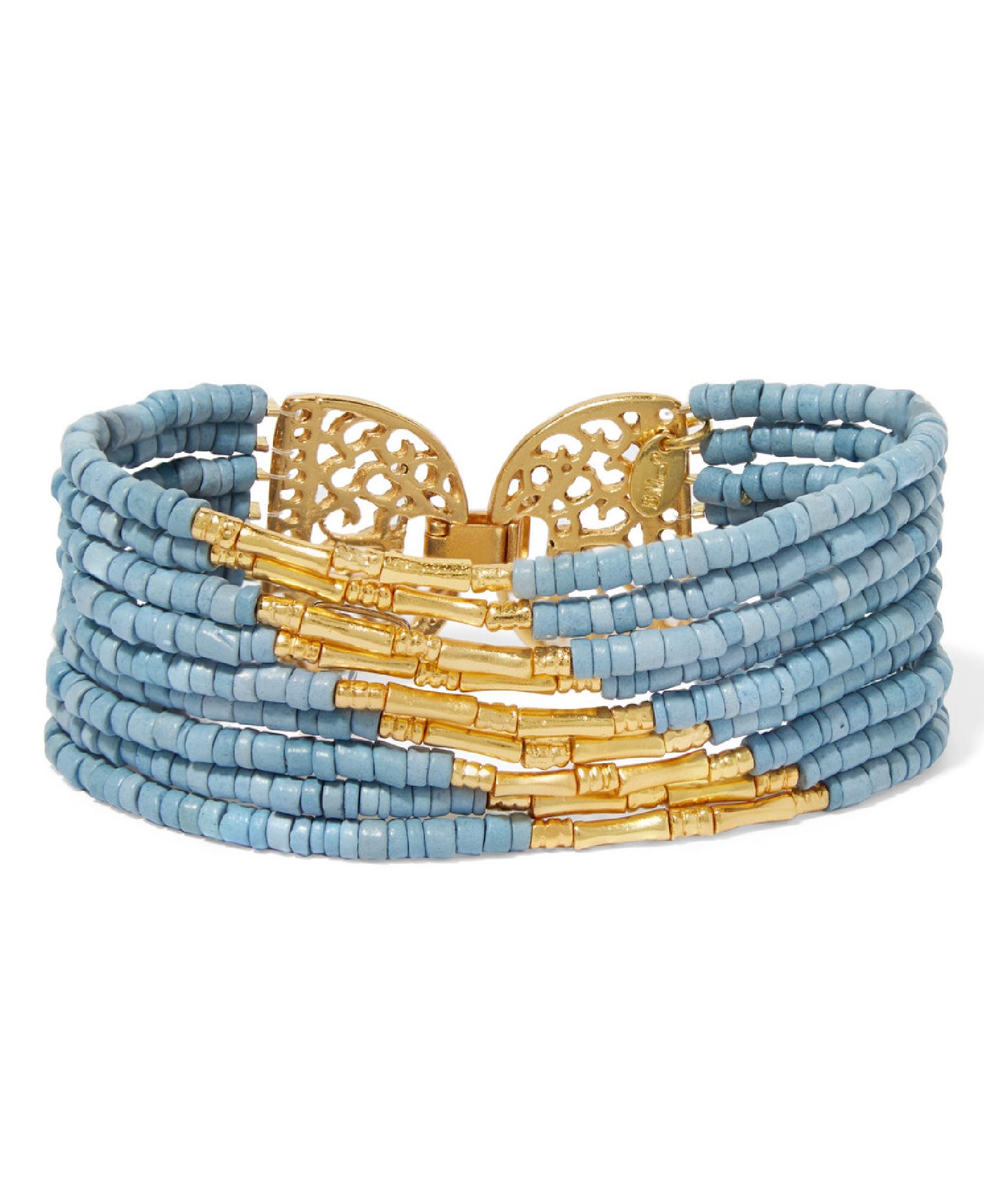 BibiI Marini - Mitu Gold-Plated And Ceramic Beaded Bracelet.