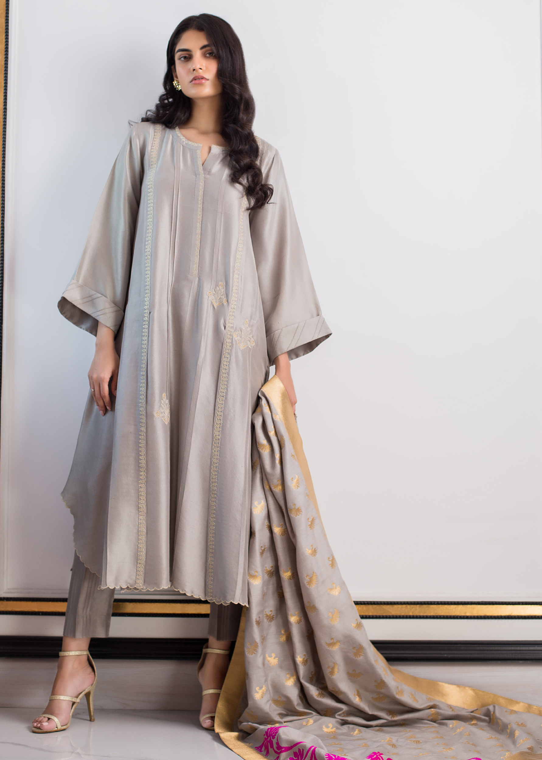 FRONT SLIT RAW SILK KURTA
