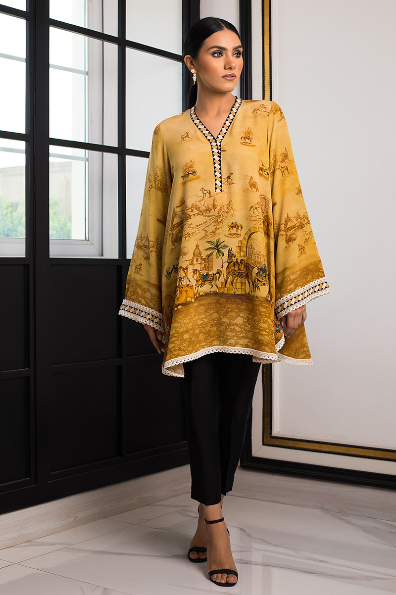 DIGITALLY PRINTED KURTA