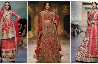 50 Shades Of Red Bridal Dresses That We Have Seen On Ramps This Year