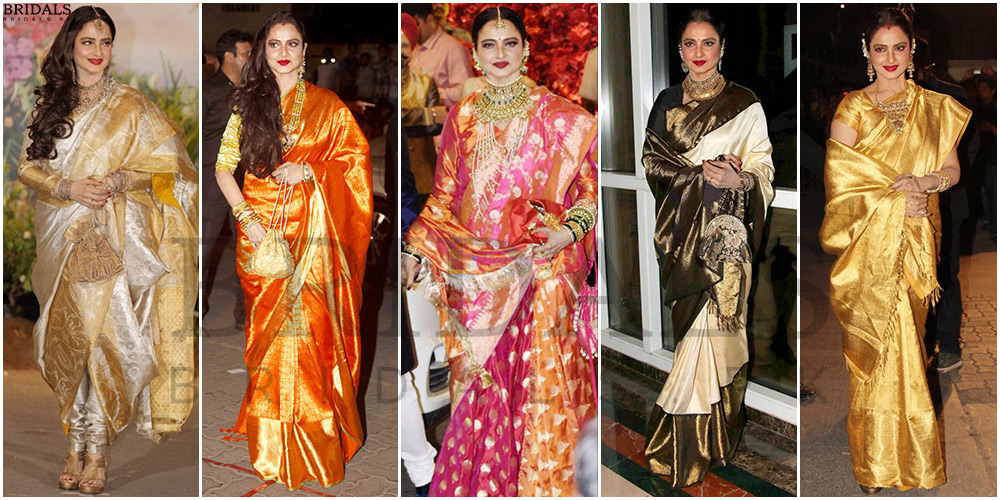 Rekha: The Evergreen Saari Queen, A Timeless Diva And A living Legend And An Icon!