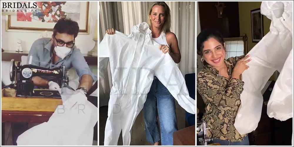 Pakistani Celebrities Stitching Protective Gear For The Doctor's!